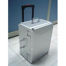Custom Easy Carrying Aluminum Trolley Tool Case with Custom Foam Insert (KeLi-trolley-09)