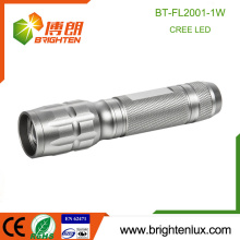 Factory Bulk Sale Adjustable Focus Zoom Metal Night Used Emergency Power 1watt Cree led kids Mini Flashlight with 1aa battery