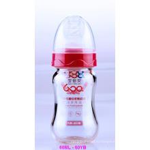 60 мл нейтрального стекла Boroslicate детские бутылочка