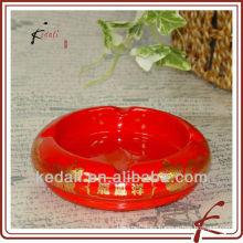 Cenicero de cerámica con logotipo personalizado