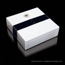 Boîte d'emballage de bijoux en papier personnalisée de haute qualité
