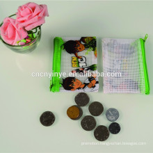 Popular plastic cheap promotional chinese silk coin purse