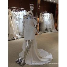 European Trendy Ivory New Arrival Real Sample Wedding Dress