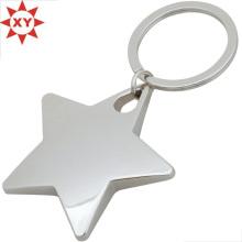 Benutzerdefinierte Sterne leere Metall Schlüsselbund