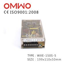 Wxe-150s-5 Cobertura Preta 5V 150W Única Saída LED Fonte de Alimentação de Comutação