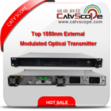 Hochleistungs-CATV 1550nm Top Externer modulierter optischer Laser-Transmitter