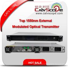 Transmisor láser óptico modulado externo de CATV 1550nm