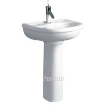 sanitary ware bathroom ceramic basin with pedestal