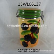 Boîtier hermétique en céramique à l'arrivée 2016 avec motif olivier