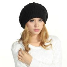 100% Шерстяное вязание крючком берет шляпы