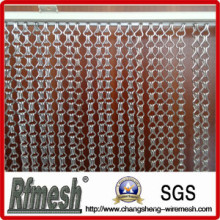 Design para cortina de elos de corrente decorativos de alumínio de sala de estar