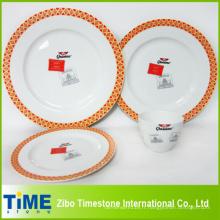 Ensemble de dîner de porcelaine de 16PC (002)