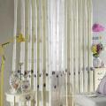Tissu de rideau en lin de broderie chimique d'hôtel