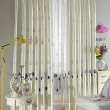Hotel de tela de cortina de lino bordado químico