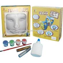 Máscara de festa de design / Máscaras plásticas em branco branco