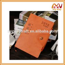 Wholesale Cheap Custom Leather Notebook, notepad with pen inside