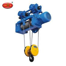 Grúa de motor del alzamiento eléctrico de la cuerda de alambre de 1 tonelada