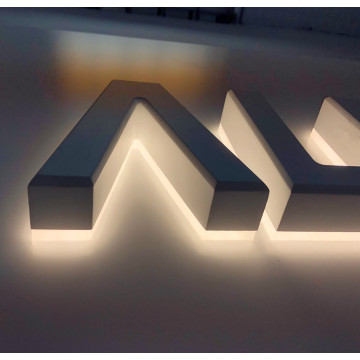 3D Back Lighted Signage Letters Box for Commercial Use