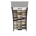 Metall Material Bodenbelag Custom Marmor Einzelhandel Showroom Werbe-Qualität Wasserfall Stein Display Rack