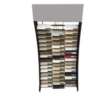 Metal Material Flooring Custom Marble Retail Showroom Promotional Quality Waterfall Stone Display Rack