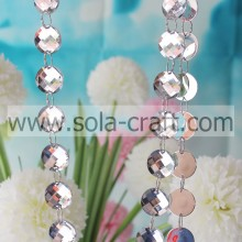 Acrylic Crystal Mirror Bead Garland Chain