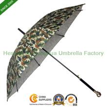 Mode Camouflage Fiberglas Stick Regenschirm Schädel Kopf Regen Regenschirm (SU-KL23BF)