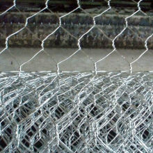 Malla de alambre hexagonal galvanizada torcida