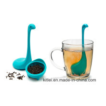 Non-Toxic Duck Tea Leaves Infuser Silicone Filter Silicone Tea Strainer