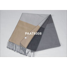 Silver Grey Color 100 % Silk Woven Silk Scarf With Autumn