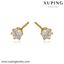 93690 Xuping jewelry Environmental Copper Elegant stud stone earring
