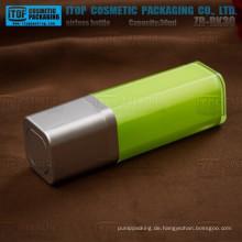 ZB-RK30 30ml Großhandel 100 % Qualitätskontrolle 1oz airless quadratischen Kunststoff-Flasche