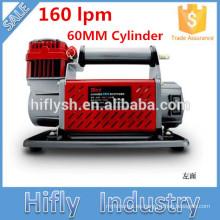 Compresor de aire para trabajo pesado HF-16060 DC 12V / 24V 160L Compresor de aire para coche 60MM Cilindro 160lpm (Certificado CE ROHS)