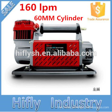 HF-16060 DC 12 V / 24 V 160L Heavy Duty Compressor de Ar Do Carro 60 MM Cilindro Compressor de Ar 160lpm (CE ROHS certificado)