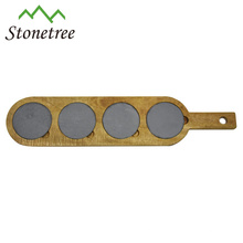 Hot Sale New Natural Stone + Acacia Slate Cheese Board Wholesale