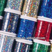 hilo de bordado de poliéster colorido hilado metálico