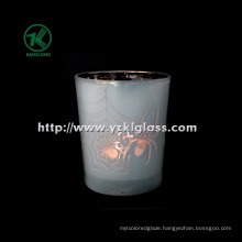 Color Double Wall Glass Candle Cup by SGS (6.5*7.5*8.8)