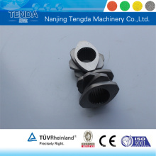 Parafuso de peça sobressalente Ce para extrusora de plástico de duplo parafuso Nanjing Tengda