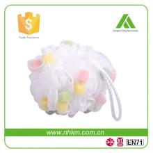 new design colorful net PE Facial Cleaning mesh Sponge