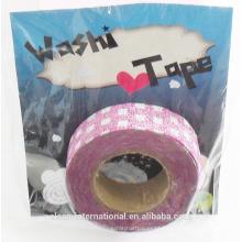 Glitter japonês washi fita de atacado / custom impresso duto fita