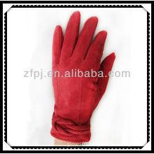 2013 fashion red suede glove