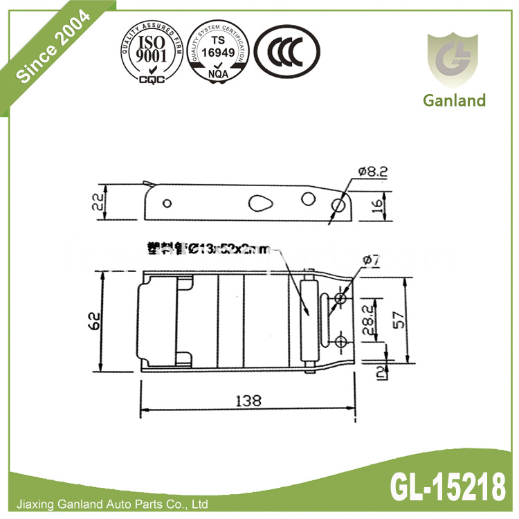 Steel curtainside buckle GL-15218