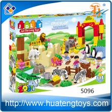 2016 Los nuevos cabritos 115pcs aclaran juguetes de los bloques huecos del parque zoológico para la venta