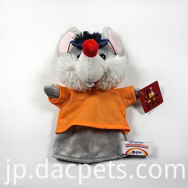 mouse hand puppet with t-shirt