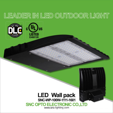 DLC UL approved module 100w smart led wall pack light for house walls