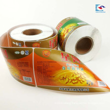 Color printed edible oil roll label Barreled water stickers customs