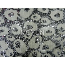 SPIDER MESH WITH 7MM SEQUIN +FOIL EMBROIDERY 50 52""
