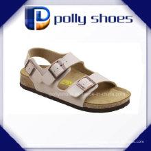 Новая мода пряжки ремень летние женщины поскользнуться на сандалии слайды