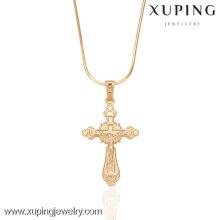 32289-XupingJewelry Venda Quente Banhado A Ouro Cruz Pingente