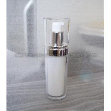 50ml clara inclinación redonda acrílico Toner botella cosmética Bot