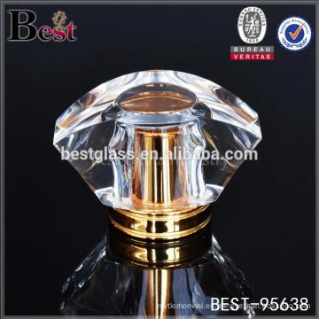 tapa de botella cosmética del perfume cristalino del diseño especial, tapa de botella cosmética de Surlyn para la botella de perfume